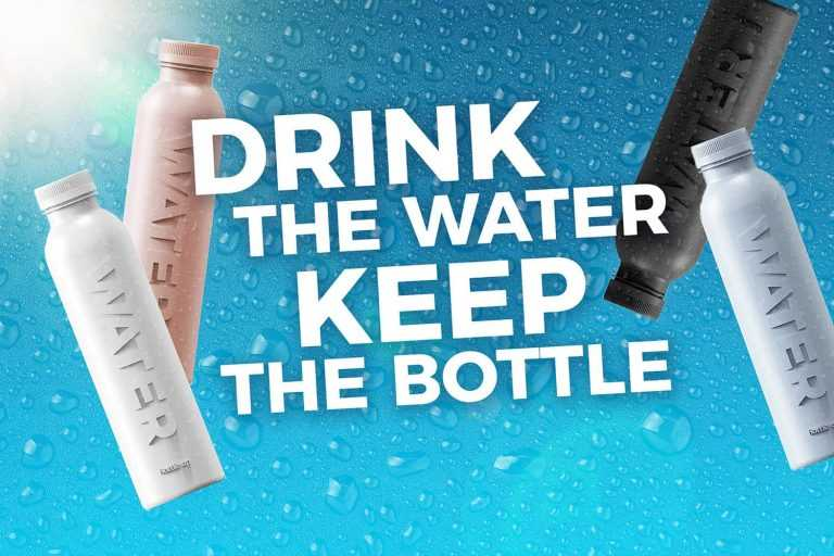 Sustainable water bottles from sugar cane